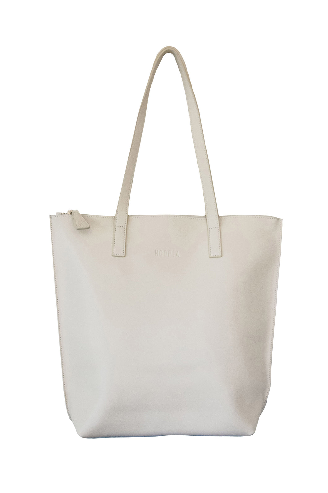 Small Cream Zip Tote