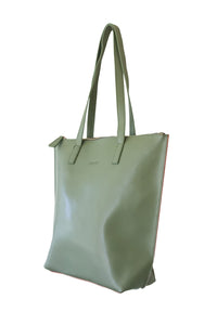 Small Olive Green Zip Tote