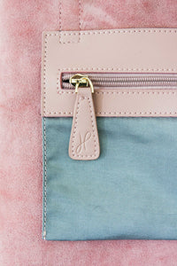 Small Dusty Pink Zip Tote