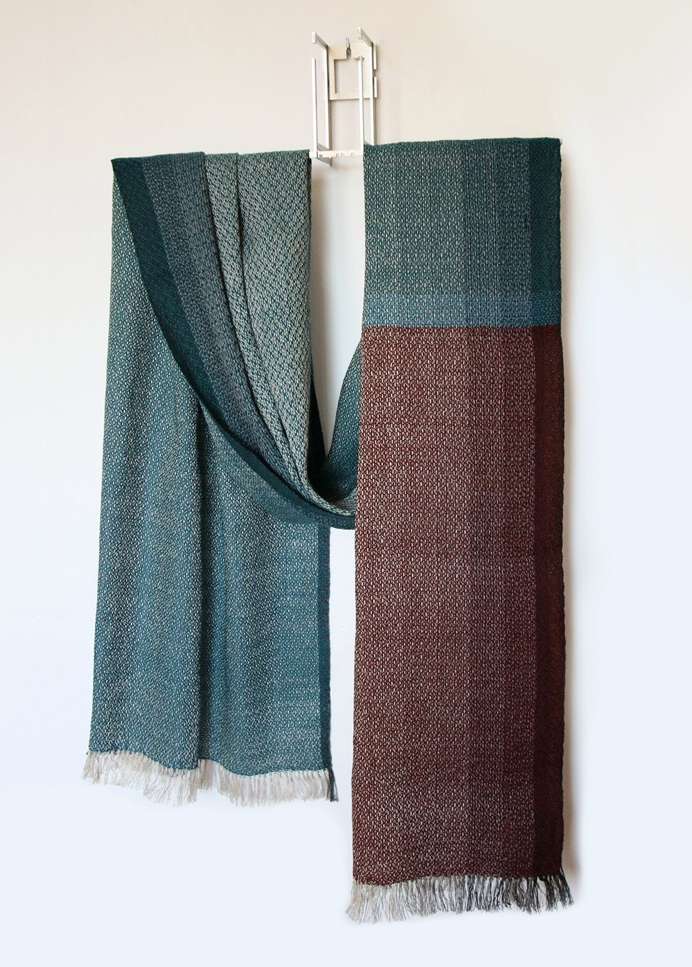 Long handwoven scarf