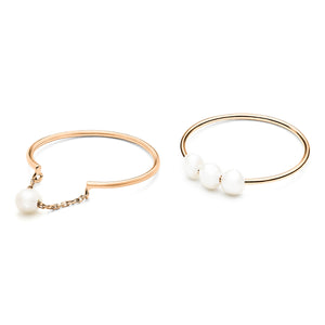 Troika Duo Rings rose gold