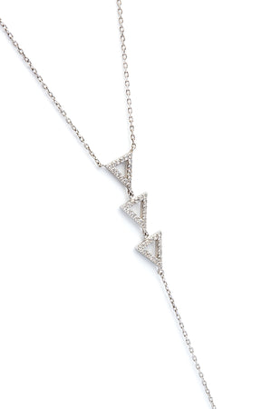 Troika Lariat Necklace white gold