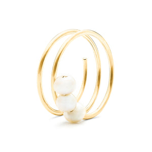 Troika Spiral Knuckle Ring