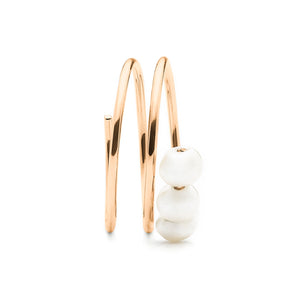 Troika Spiral Knuckle Ring rose gold