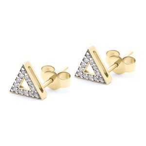 Troika Stud yellow gold