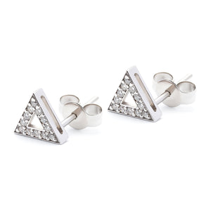 Troika Stud white gold