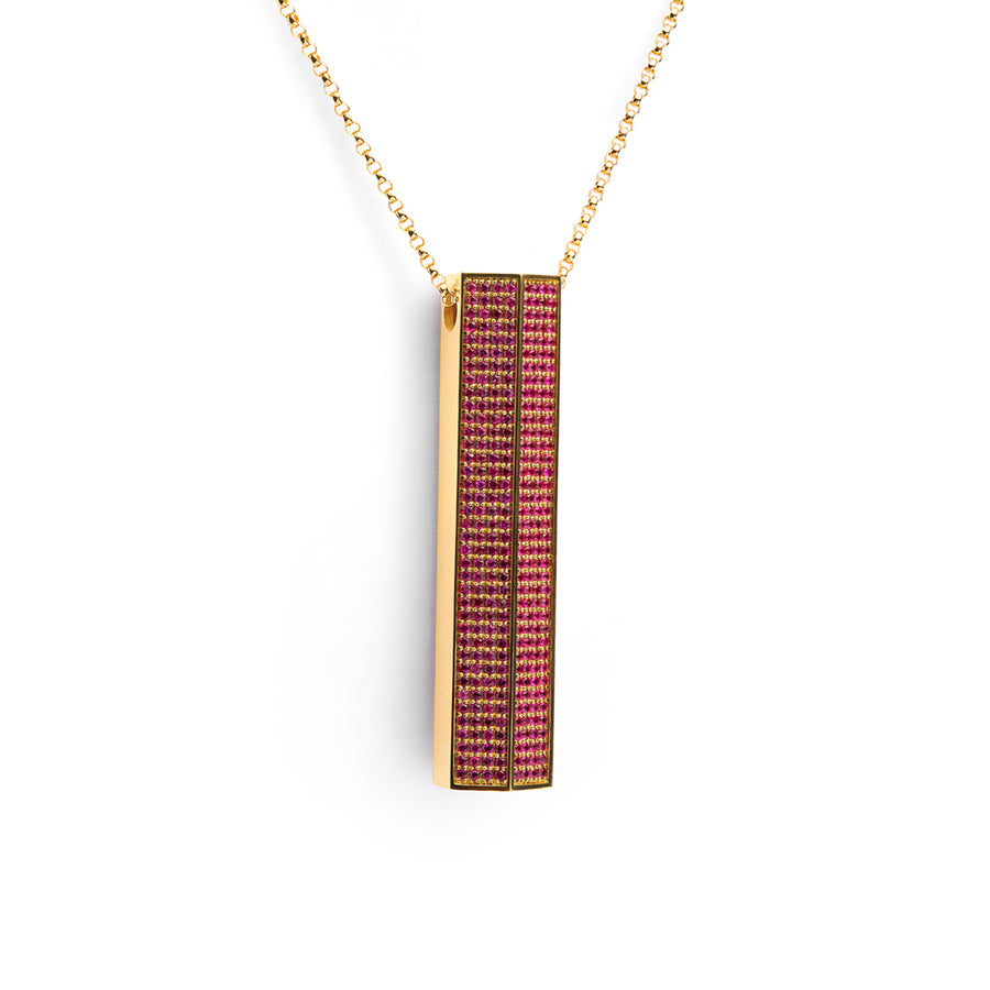 Luz Amulet Bar Necklace