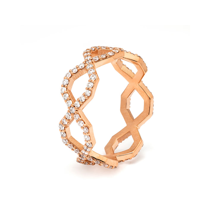 Répertoire Diadem Diamond Band Ring rose gold