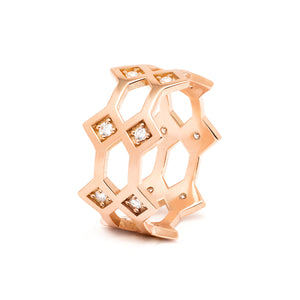 Répertoire Crown Ring rose gold