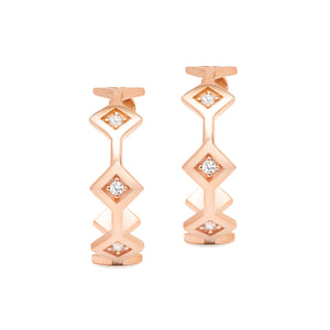 Répertoire Tiara Hoop Earrings rose gold