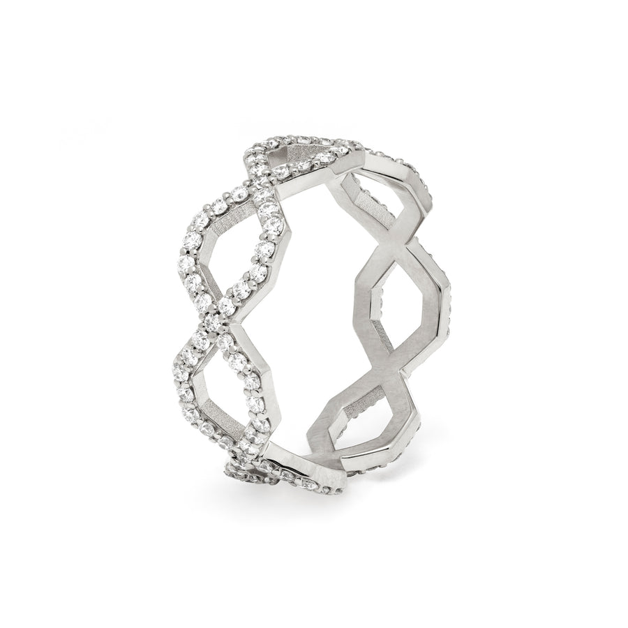 Répertoire Diadem Diamond Band Ring white gold