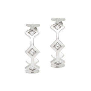 Répertoire Tiara Hoop Earrings white gold