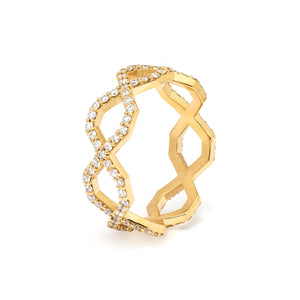 Répertoire Diadem Diamond Band Ring yellow gold