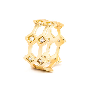 Répertoire Crown Ring yellow gold