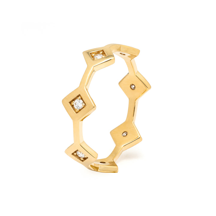 Répertoire Tiara Band Ring yellow gold