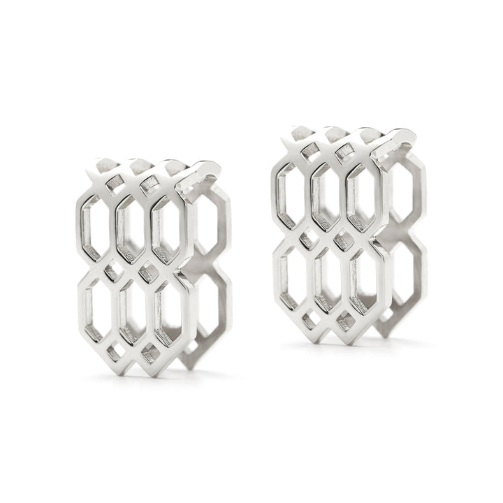 Répertoire U-Hoop Earrings white gold