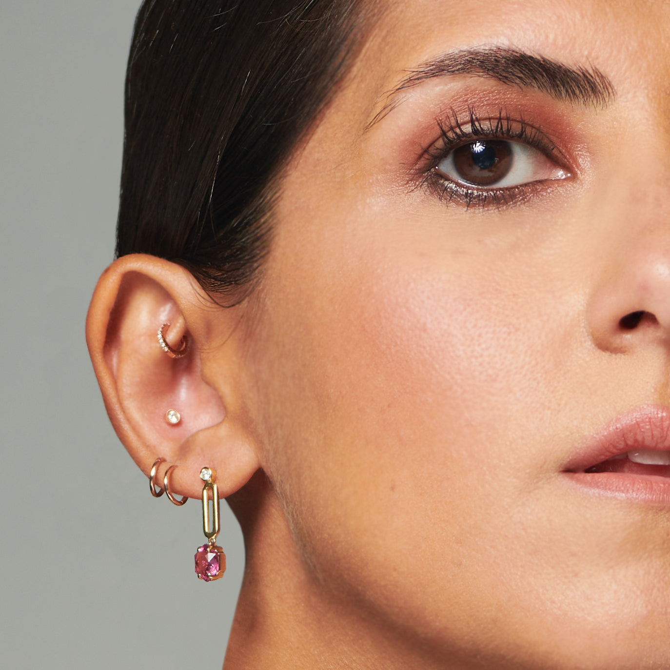 Suad La Volta Drop Earrings (Tourmaline)