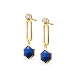 Suad La Volta Drop Earrings (Lapis)