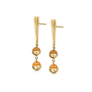 Suad Tramonto Earrings (Carnelian)