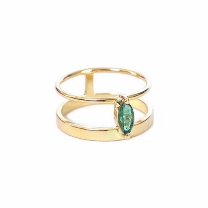Olivia Bridge Ring (Emerald)
