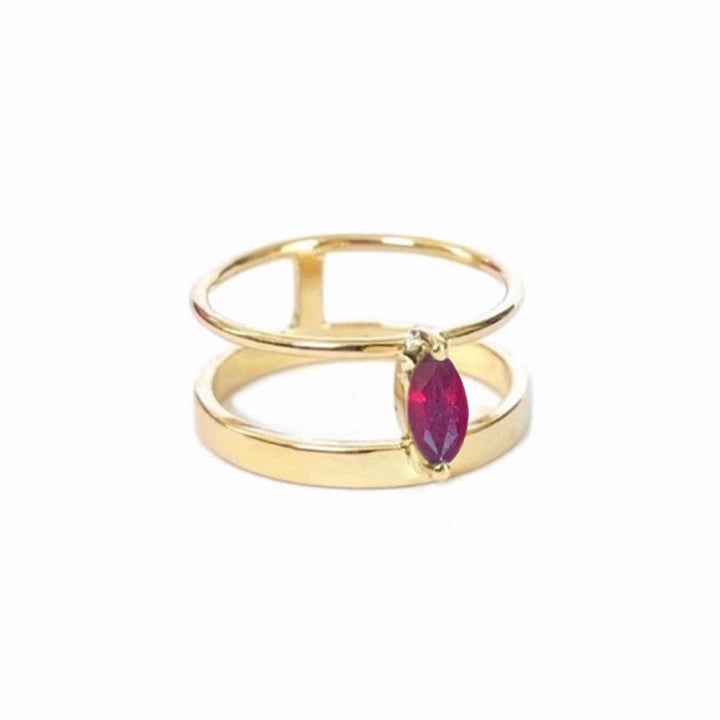 Olivia Bridge Ring (Ruby)