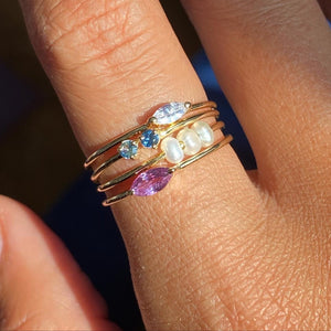 Olivia Ring (Lilac Sapphire)