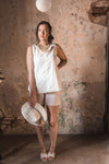 Chloe Wrap Dress in Linen