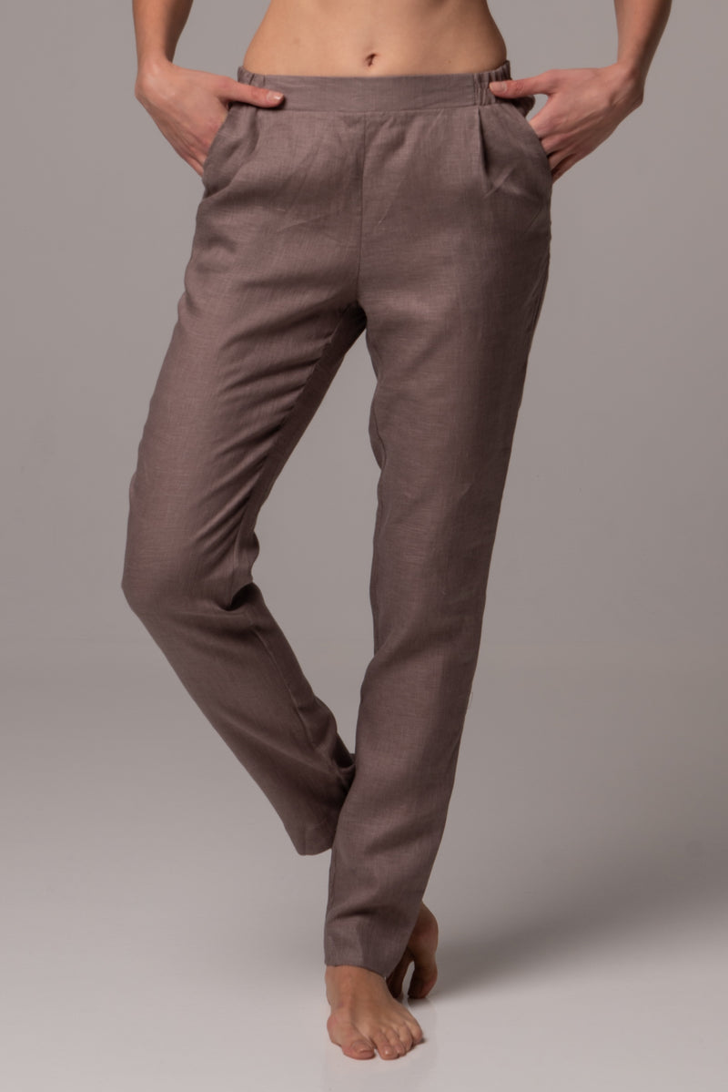 Canyon Clay Straight Leg Pants in Premium European Linen