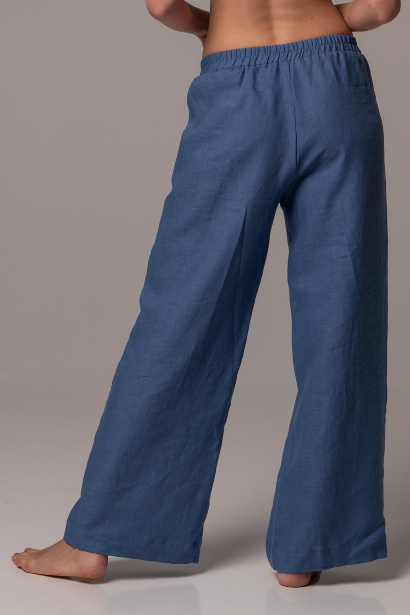Endless Sea Wide Leg Pants in Premium European Linen