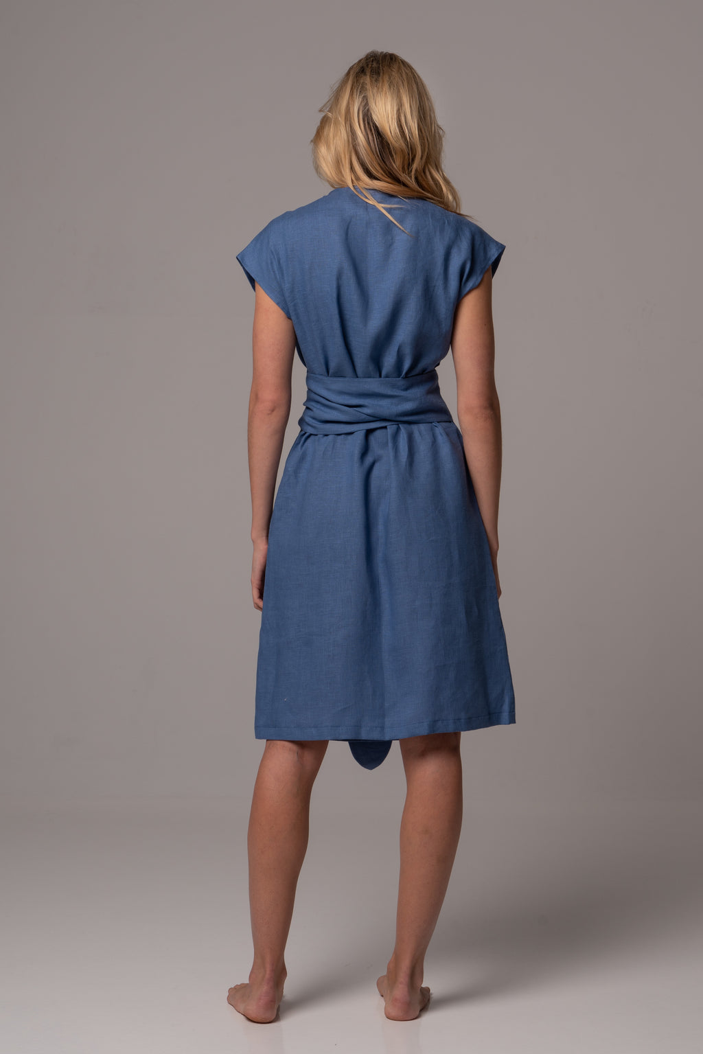 Endless Sea Wrap Dress in Premium European Linen