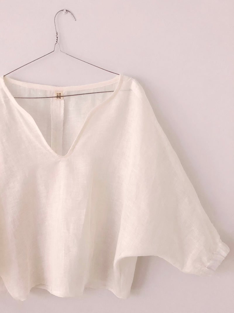 Bat Sleeve Blouse in European Linen