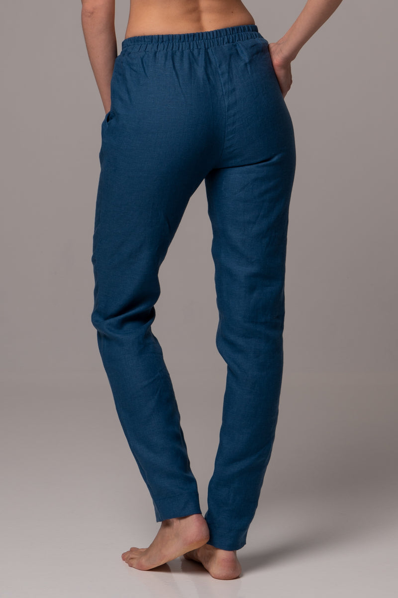 Naval Straight Leg Pants in Premium European Linen
