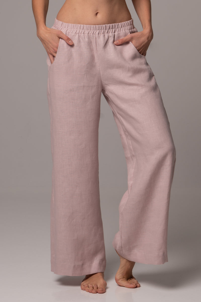 Sandbank Wide Leg Pants in Premium European Linen