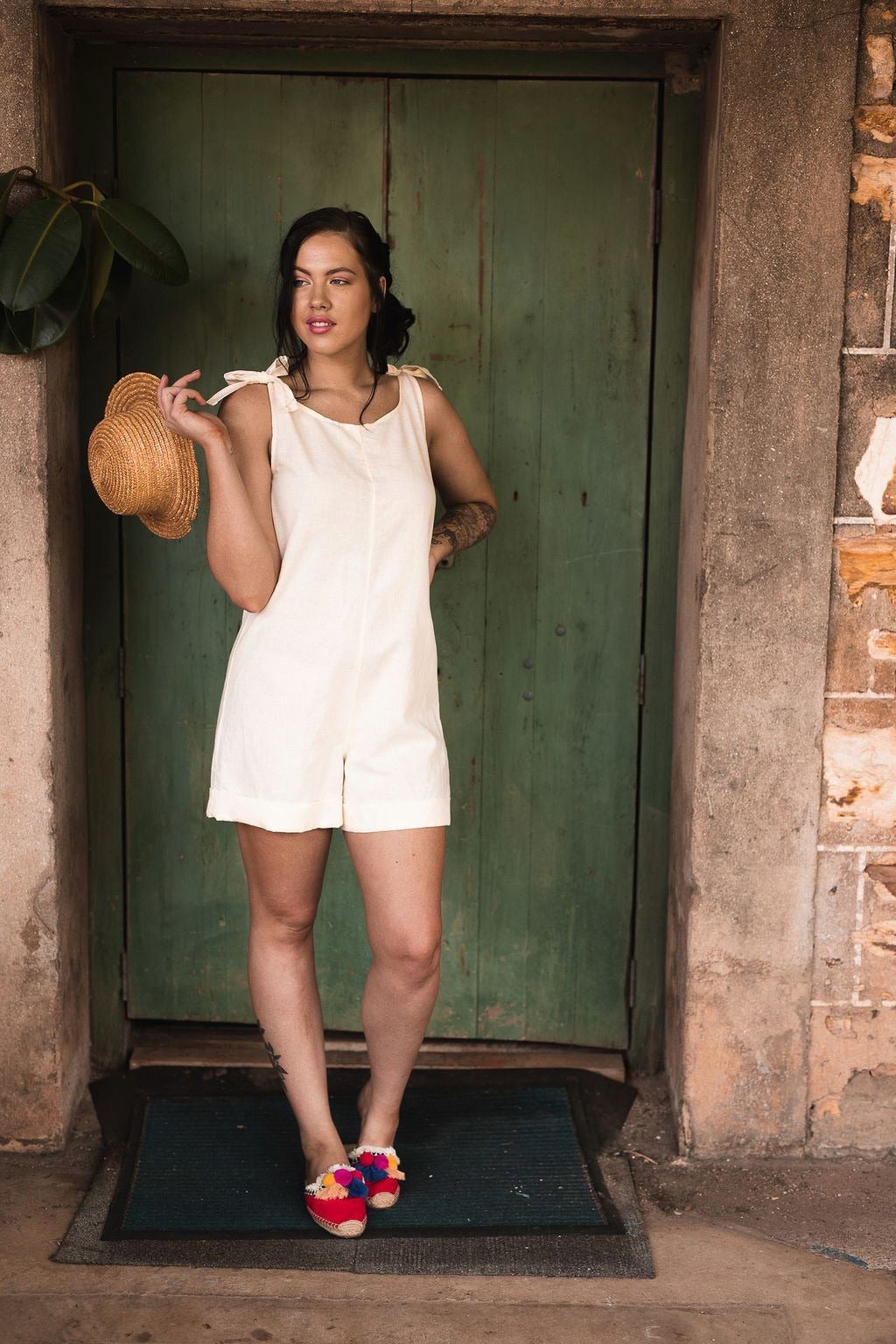 Gina Jumpsuit With Pockets in Linen