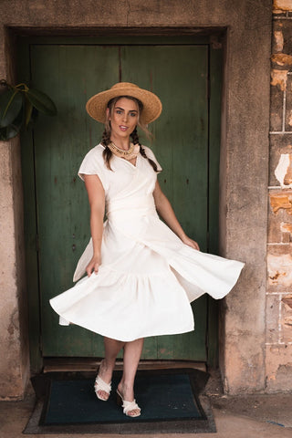 Asymmetric Loose Fit Bell Dress in European Linen