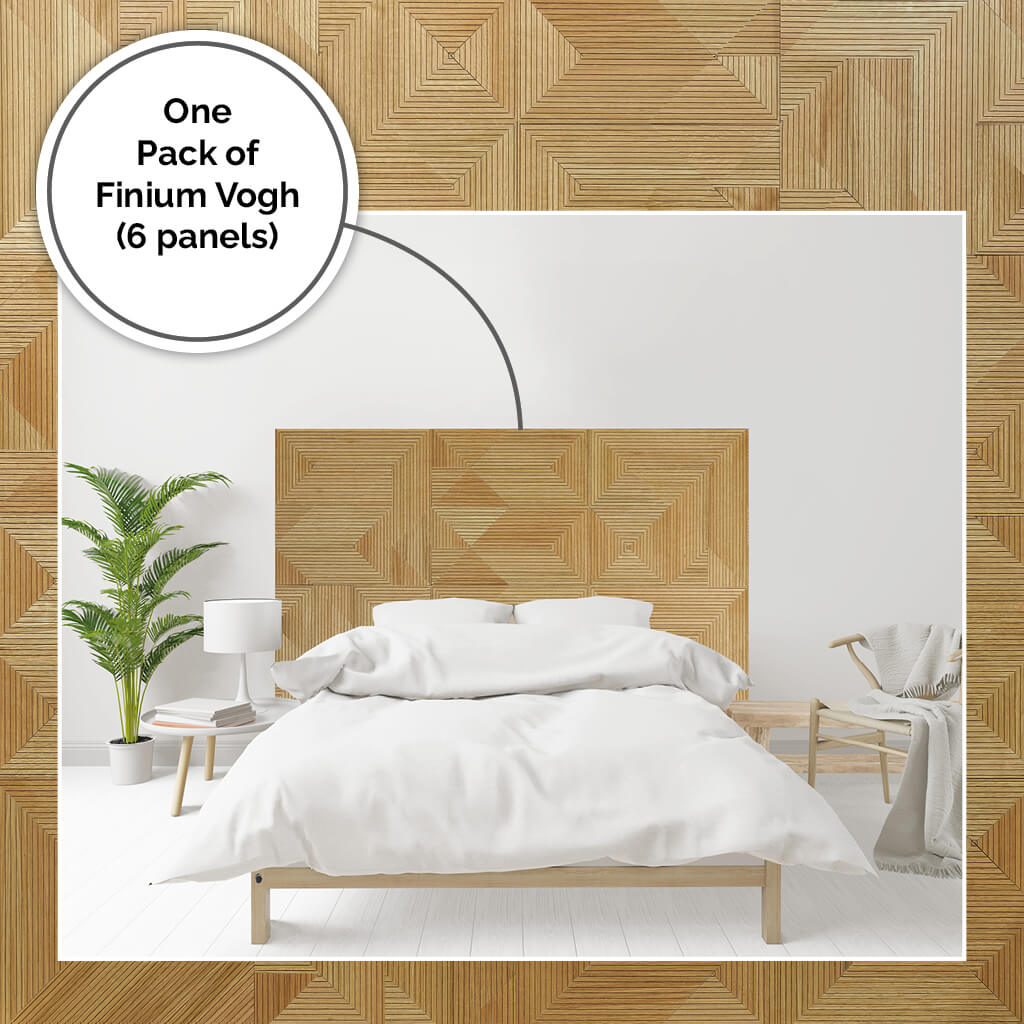 Oversized bed headboard DIY project using wooden panels