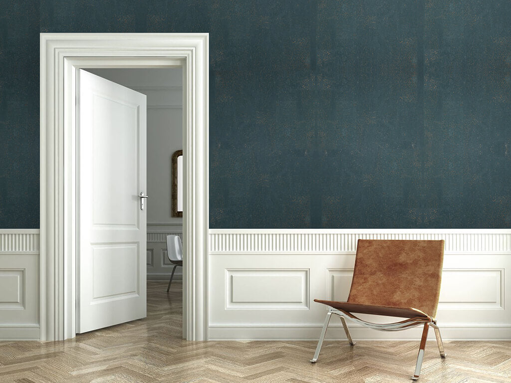 A 2D cork wall with classic paneling
