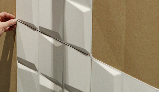 Apply tile spacers