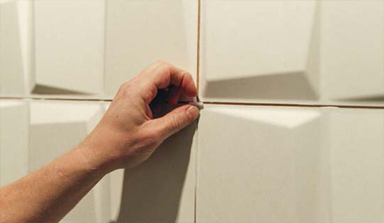 Remove tile spacer when ready