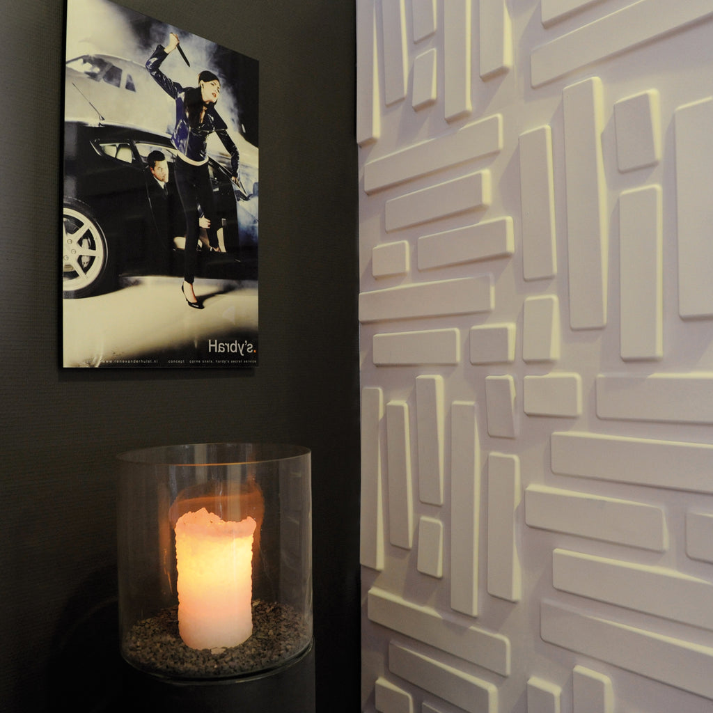 3D wall panel Bricks installed within a teens bedroom.