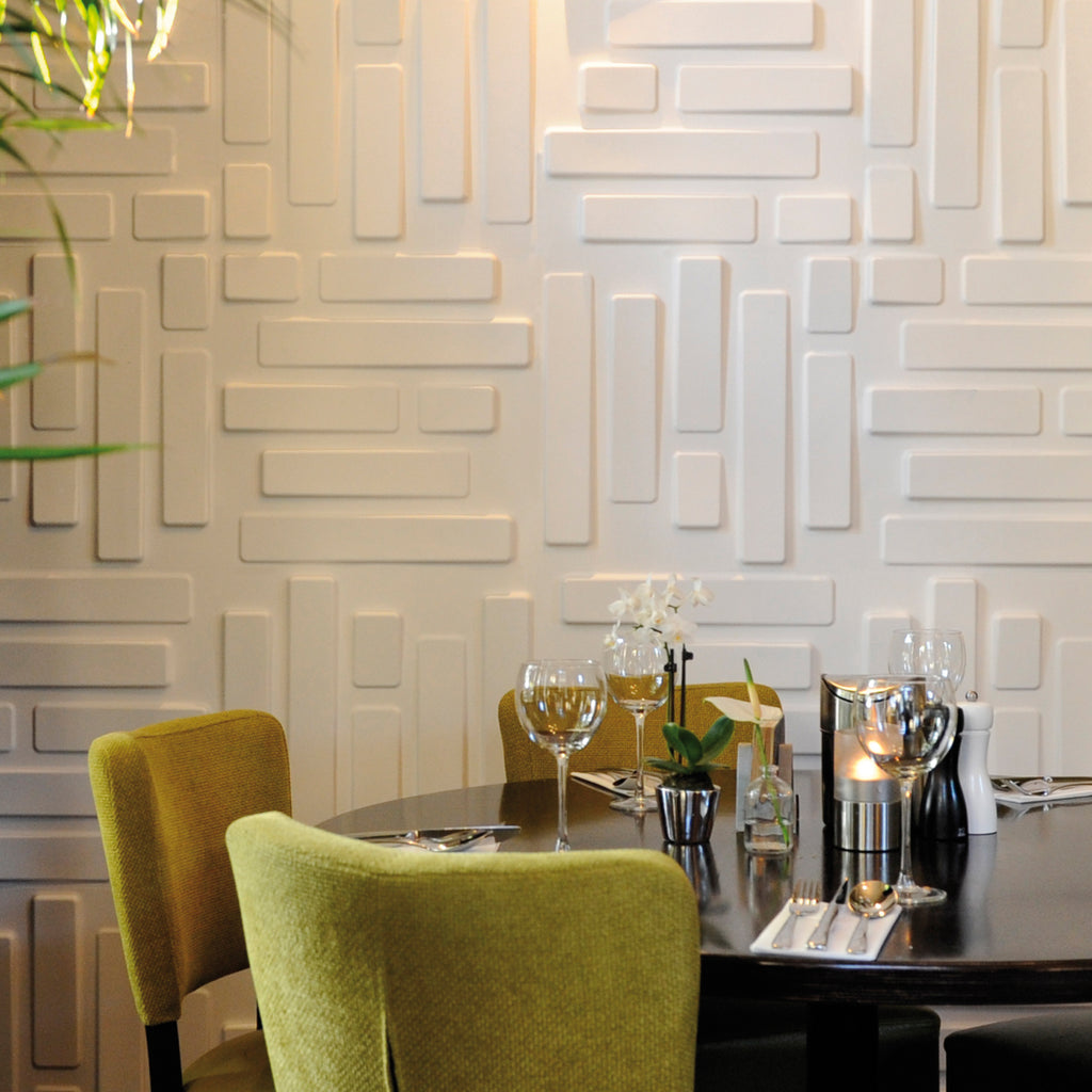 3D wall panel bricks used with hospitality
