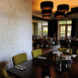 3D wall panel Bricks used within a restaurant interior.