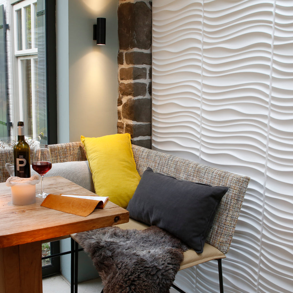 Waved 3d wall panels for the home. Perfect diy project to add a decorative element to your walls