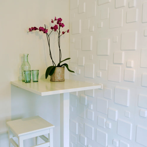 Eco 3D Wall Panels - Squares 1sqm Pack