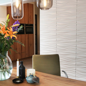 Eco 3D Wall Panels - Waves 1sqm Pack