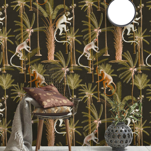 Mind The Gap Wallpaper - Barbados Anthracite - 3 Rolls