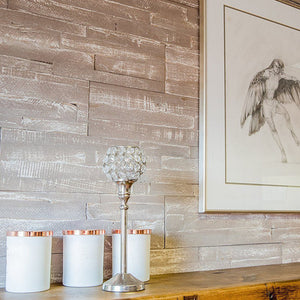 Distressed Painted Timber Wall Panels - Martini 1sqm box
