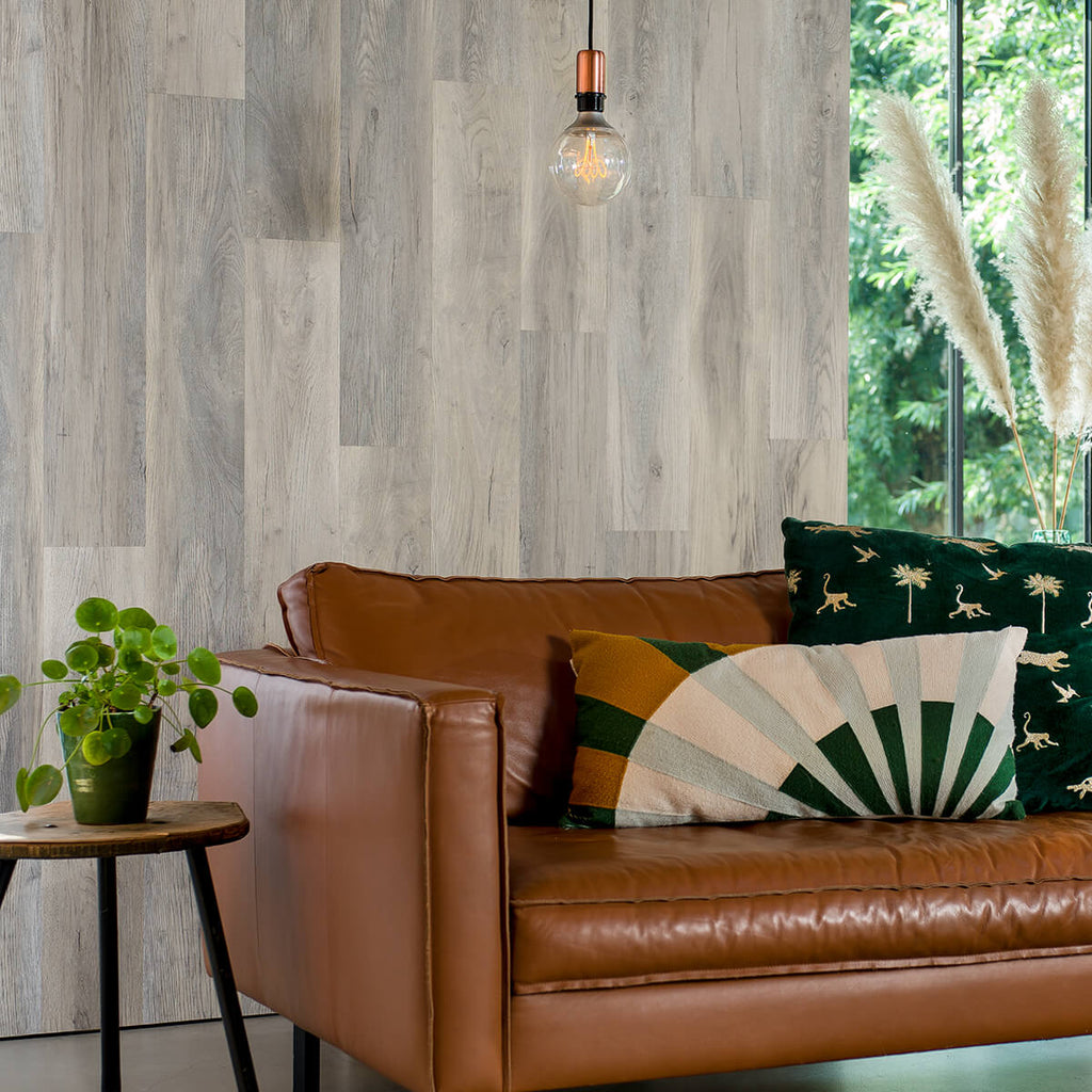 Vinyl Wood Effect Wall Panels - Whitewash 1sqm