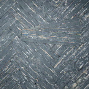 Blue peel and stick wood planks for interiors