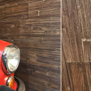 real wood peel and stick panels within an interior